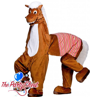 2 MAN PANTO HORSE COSTUME Plush Animal Mascot Pantomime Fancy Dress Outfit 8563 (Christmas Horse Costumes)