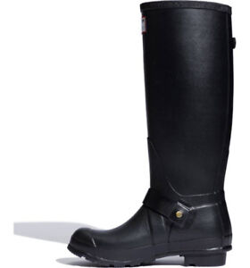 Women's Black Rubber Hunter Jimmy Choo  rain boots