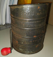 VINTAGE ANTIQUE BROMWELL'S 3 Cup Flour Sifter Made In USA Longueuil / South Shore Greater Montréal Preview