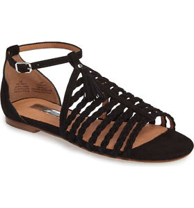 Black braided leather sandals (size 7.5 womens) - from Nordstrom