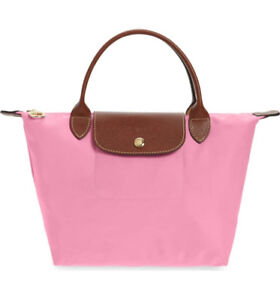 PINK 'Small Le Pliage' Top Handle Tote by LONGCHAMP