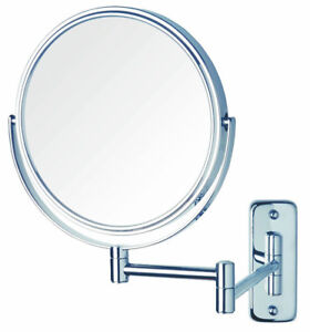 Jerdon JP7808C 8-Inch Two-Sided Swivel Wall Mount Mirror with 8x