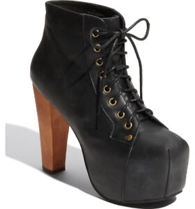 Jeffrey Campbell Lita - Black/Lace-Up/Wood Heel