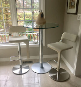 Bar counter stool adjustable all leather up to 30 in plus bistro