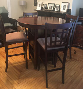 SOLD!.....PUB STYLE KITCHEN TABLE AND CHAIRS