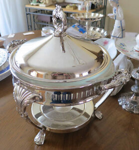 Superb silver chafing dish