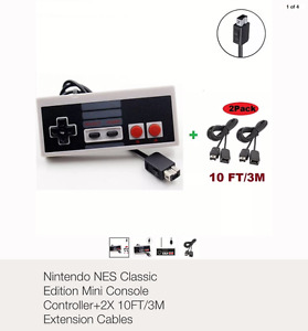 NES Classic Edition Controller and 2 extension cords