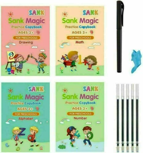 Age 3-5 Sank Magic Practice Copybook Number Book Writin Preschooler Pen Reusable