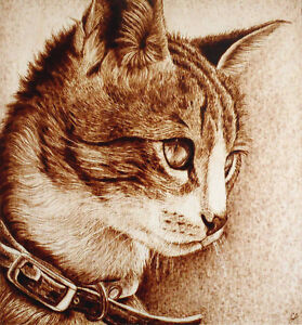 ORIGINAL WOODBURNED PET PORTRAITS: COMMISSIONS, MEMORIALS, ETC.