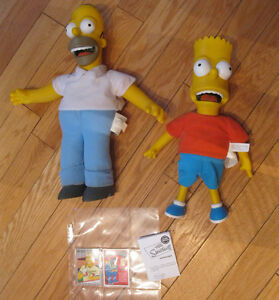 LARGE BART AND HOMER SIMPSON TALKING DOLLS