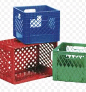 Looking for milk crates