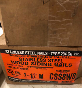 Stainless Steel 2-1/2 8d Nails
