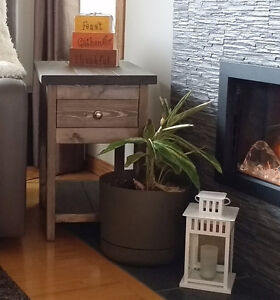 Three (3) Rustic End Tables