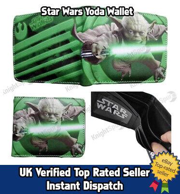 Star Wars Yoda Wallet -  Full Printed with raised front logo &  internal logo