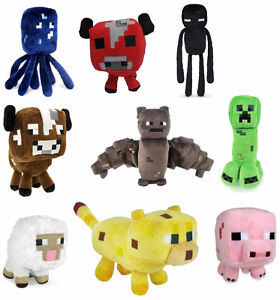 MINECRAFT PLUSH TOYS ALL NEW WITH TAGS and in bag