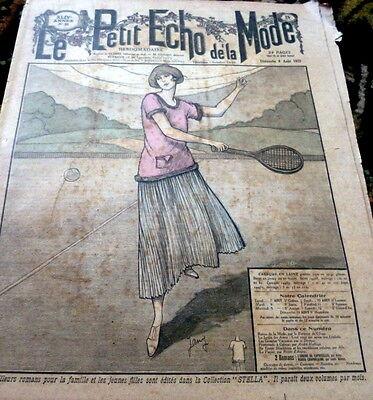 *VTG 1920s PARIS FASHION & SEWING PATTERN CATALOG LE PETIT ECHO de la MODE 1922