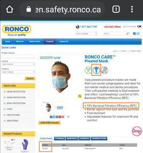 ronco care surgical mask