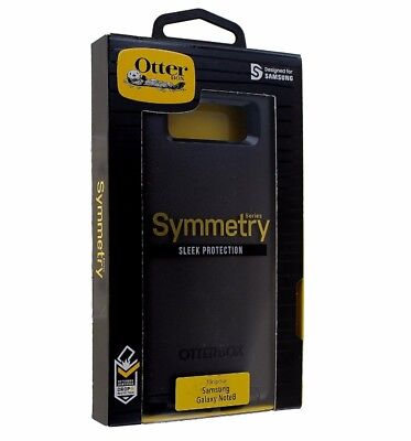 OtterBox Symmetry Series Hybrid Case Cover for Samsung Galaxy Note 8 - Black