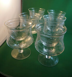 4U2C SET OF 12 ETCHED CRYSTAL SHRIMP COCKTAIL GLASSES