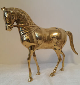Decorative BRASS HORSE, Asian in Styling --- NEW IN BOX!!