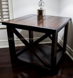 INDUSTRIAL SALVAGED WOOD TABLE/SHELF/WINE RACK/GIFT