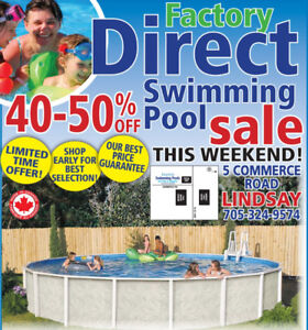 CLEARANCE PRICING ON ABOVE GROUND POOLS!