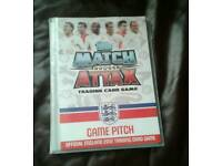 Football match attacks cards and book