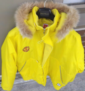 MANCHESTER UNITED Soccer Team Official Merchandise Jacket Large