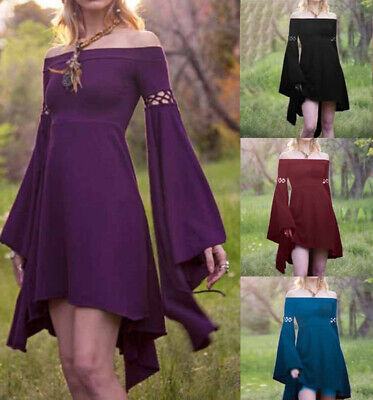 Medieval Gothic Women Retro Off-shoulder Dress Party Palace Cosplay Costume - Retro Party Costumes