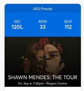 Shawn Mendes Concert Tickets