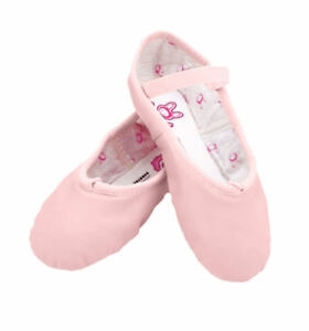 Kids' Ballet Leather Flat Practice Performance Pink Shoes
