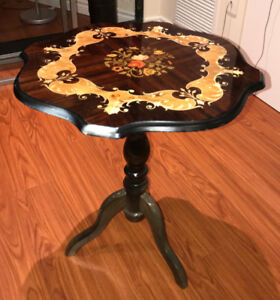 Accent Table - Italian Inlaid Wood