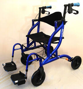 Airgo Fusion Duo Walker & Transport Chair  SEE VIDEO