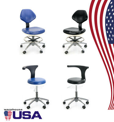 Dental 360 Rotation Mobile Chair Adjustable Stool Dentist Chair Pu Leather