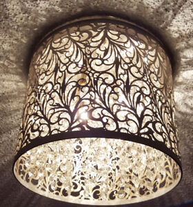 Crystal and Metal Ceiling Lamp New in Box