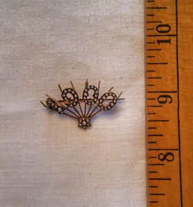 Antiques-1900 Pearl Pin, Garnet Butterfly Pin, Cameo PinkieiRing