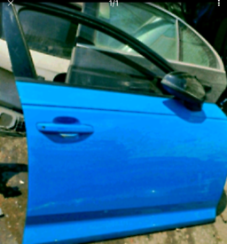Audi a4 b9 offside front door blue 16-19