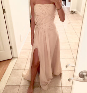 Prom/Evening Gown in Champagne colour
