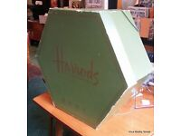 Vintage Harrods knightsbridge London Large Hat box ideal for wedding and props