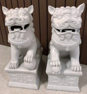 Fu Dogs  item# 24-618 sold as set - Great Price for size!