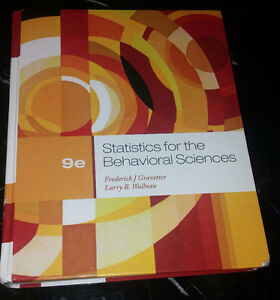 Statistics for the Behavioural Sciences - Gravetter (Hardcover)