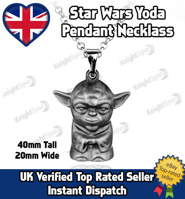 Star Wars Yoda Necklace accessory  in Black velvet bag Chrismtas Gift Stocking
