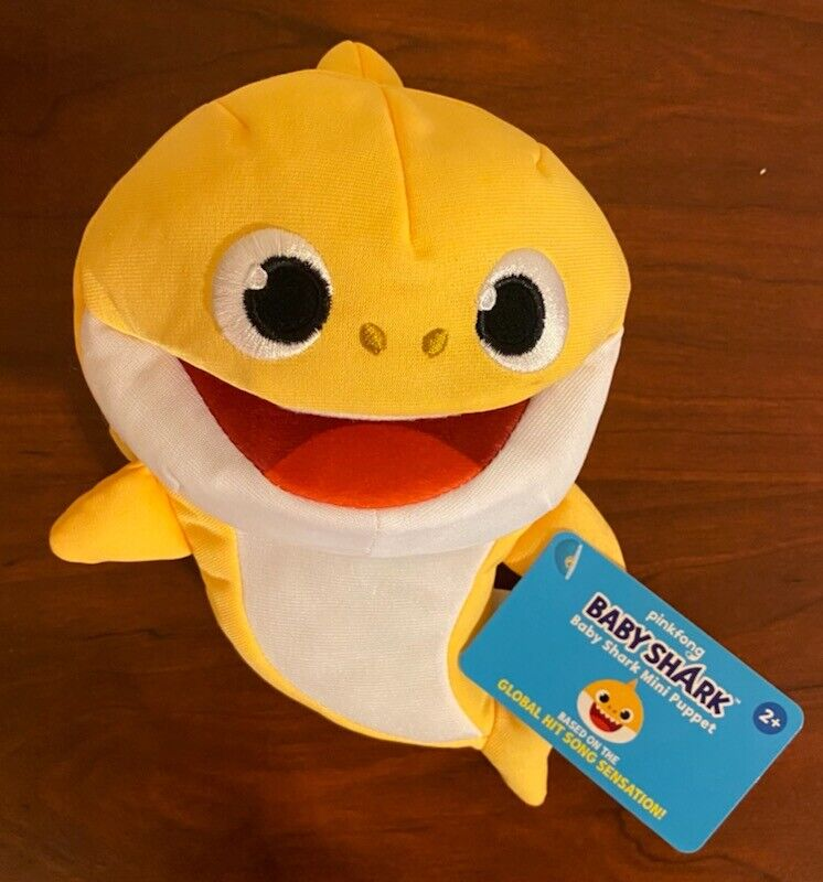 Pinkfong Baby Shark Mini Puppet Yellow Baby Shark WowWee 8 Length Ages 2 Years - $14.99