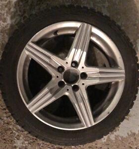 4 jantes pneus hiver 17 Mercedes CLA winter rims tires 9/32