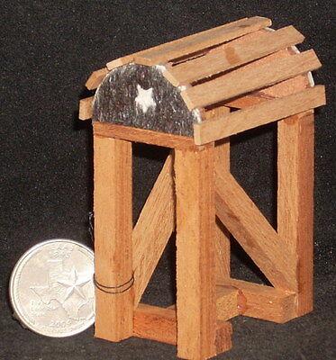 Dollhouse Miniature Western Black Star Saddle Stand 1:12 Prestige for Texas Tiny