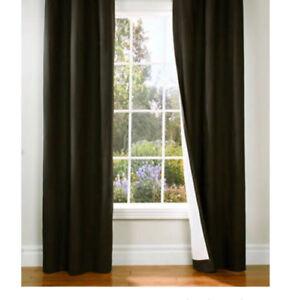 2 panneaux de rideau brun