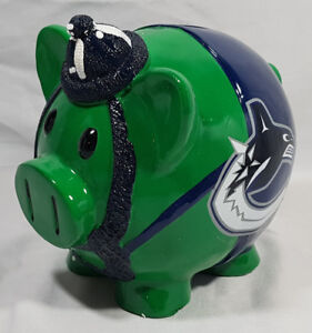 NHL VANCOUVER CANUCKS LARGE PIGGY BANK NEW