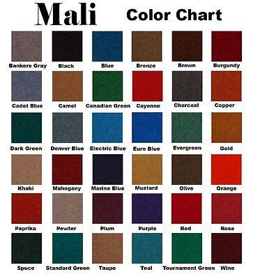 - 8 FOOT MALI POOL TABLE CLOTH / BILLIARD FELT / FABRIC PRE-CUT in STANDARD GREEN