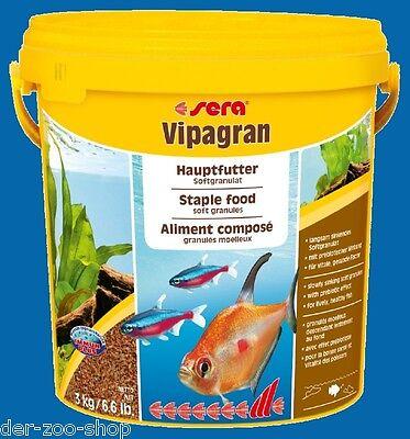 Sera Vipagran Granulatfutter  - 10 l 3 Kg Fischfutter Granulat  24 Std.Versand