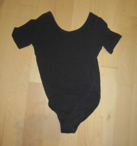 Black cotton body suit, youth size 12, good condition